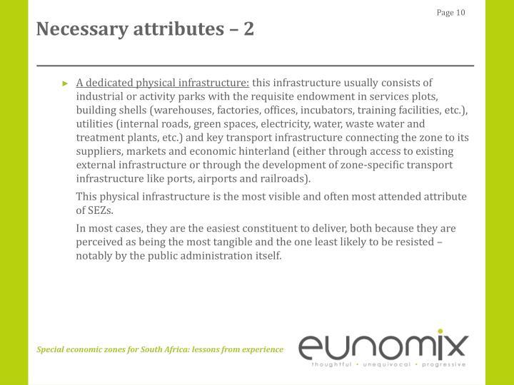 Necessary attributes – 2