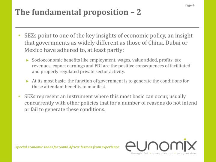 The fundamental proposition – 2