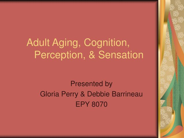 Adult aging cognition perception sensation