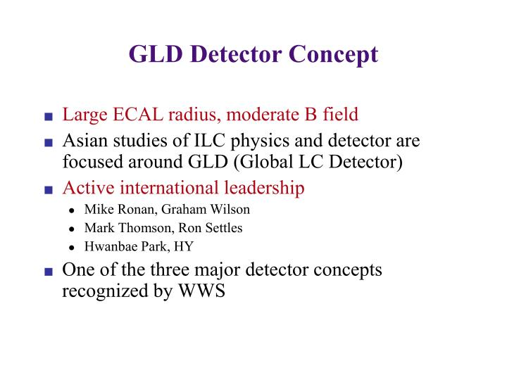 GLD Detector Concept