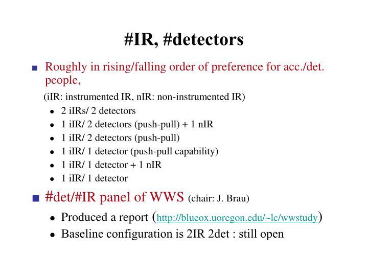 #IR, #detectors