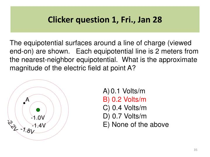 Clicker question 1, Fri., Jan 28