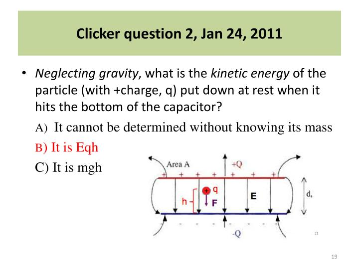 Clicker question 2, Jan 24, 2011
