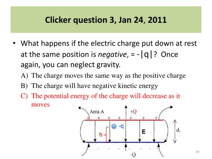 Clicker question 3, Jan 24