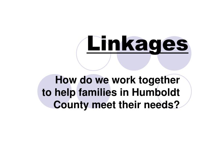 linkages n.