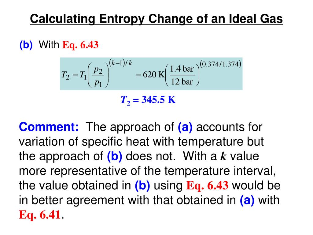 PPT Calculating Entropy Change PowerPoint Presentation