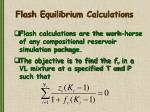 flash equilibrium calculations