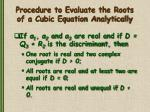 procedure to evaluate the roots of a cubic equation analytically2