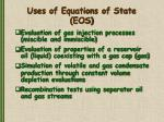 uses of equations of state eos
