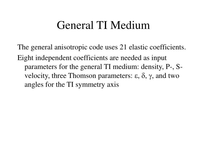 General TI Medium