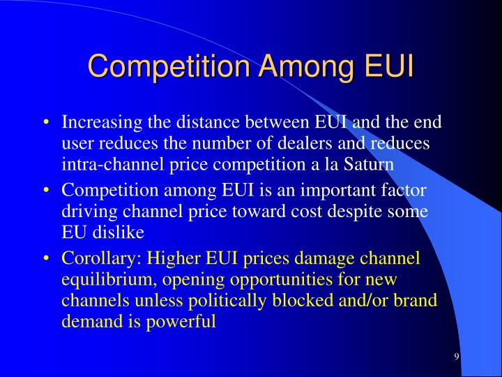Competition Among EUI