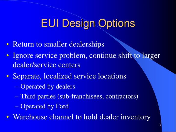 Eui design options