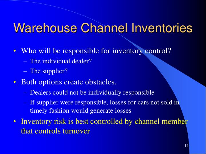 Warehouse Channel Inventories