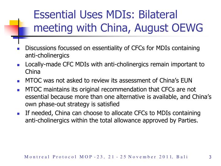 Essential uses mdis bilateral meeting with china august oewg