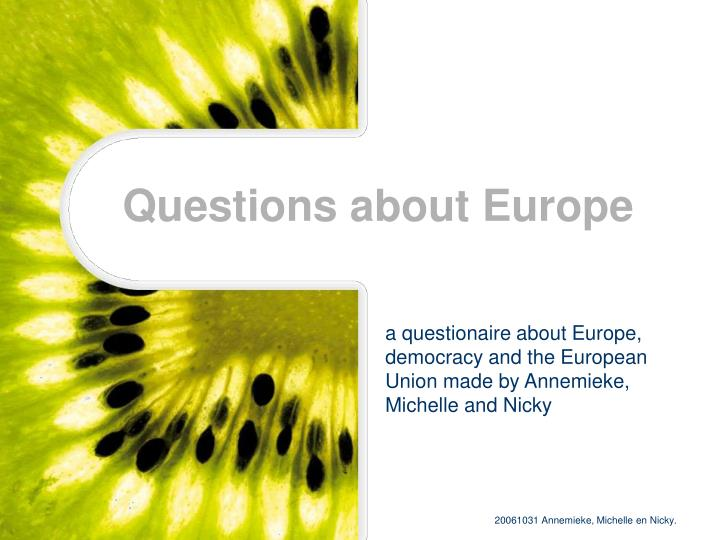 questions about europe n.
