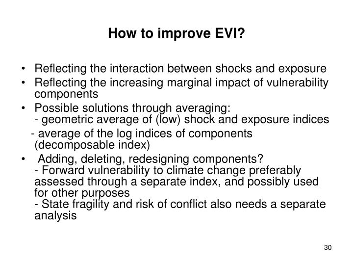 How to improve EVI?