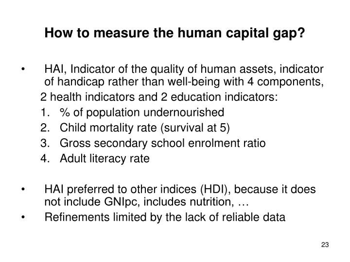 How to measure the human capital gap?