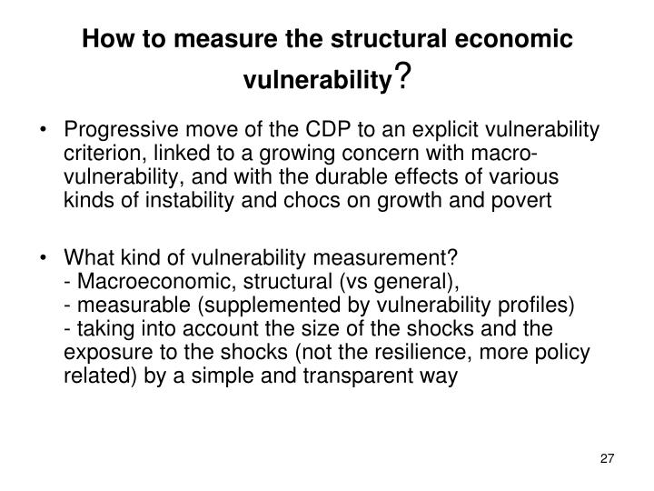 How to measure the structural economic vulnerability