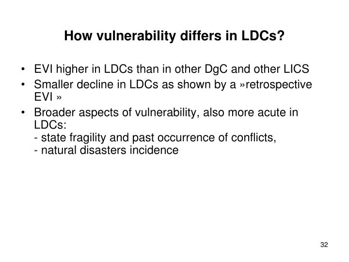 How vulnerability differs in LDCs?