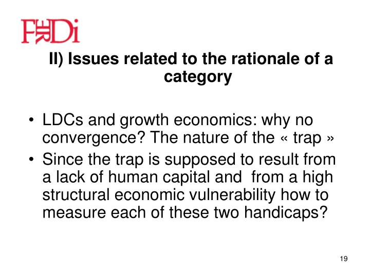 II) Issues related to the rationale of a category