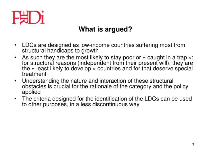 What is argued?