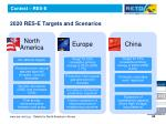 2020 res e targets and scenarios