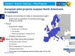 european pilot projects surpass north americans in numbers