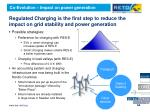 regulated charging is the first step to reduce the impact on grid stability and power generation