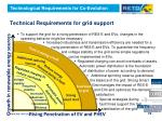 technical requirements for grid support