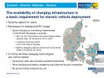 the availability of charging infrastructure is a basic requirement for electric vehicle deployment