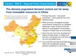 the densely populated demand centers are far away from renewable resources in china