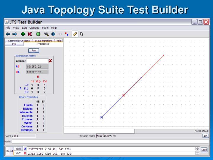 Java Topology Suite Test Builder