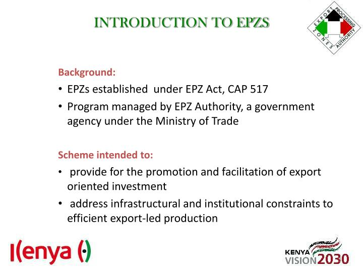 Introduction to epzs