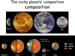 the rocky planets composition composition
