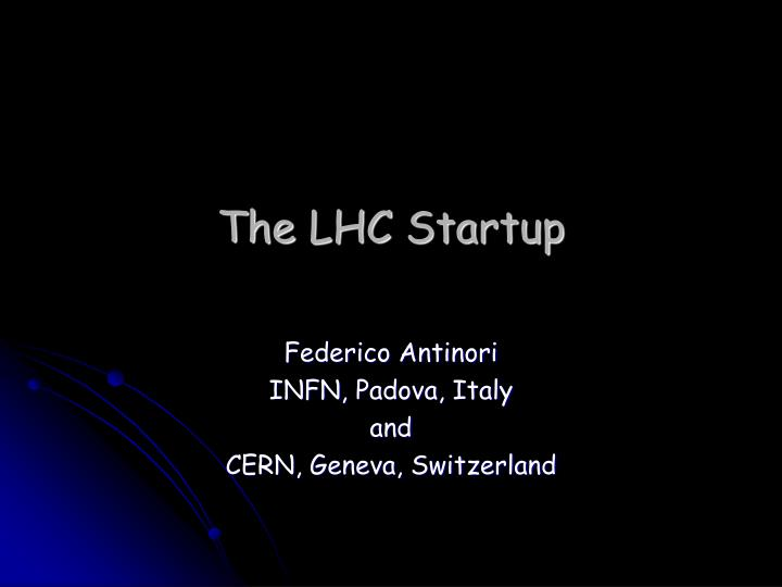 the lhc startup n.