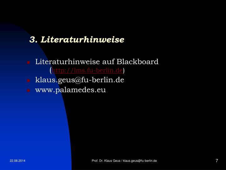 3. Literaturhinweise