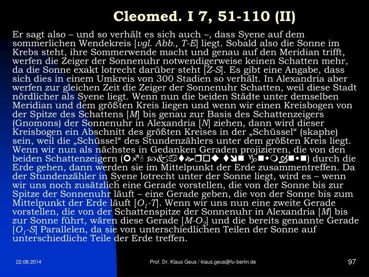 Cleomed. I 7, 51-110 (II)