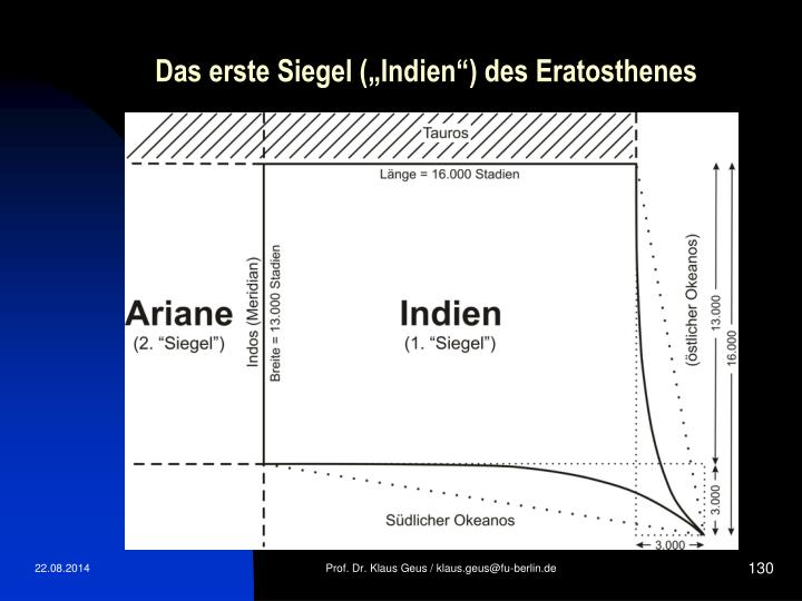"""Das erste Siegel (""""Indien"""") des Eratosthenes"""
