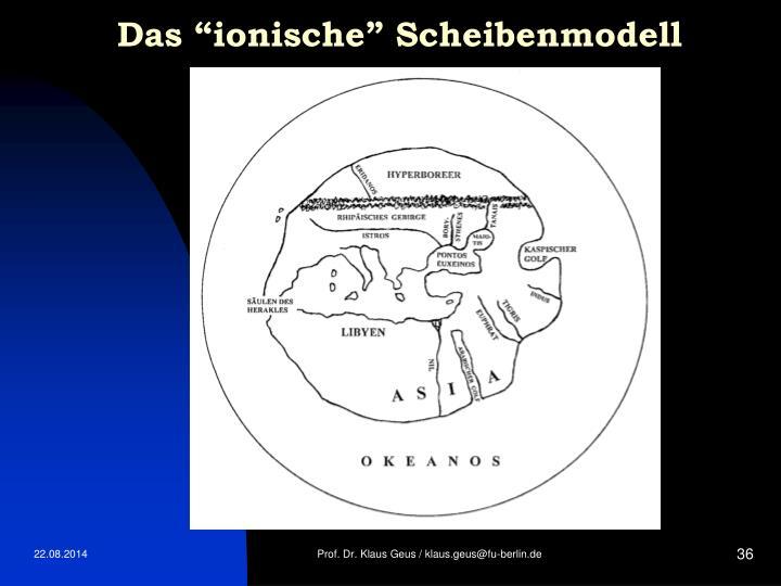 """Das """"ionische"""" Scheibenmodell"""