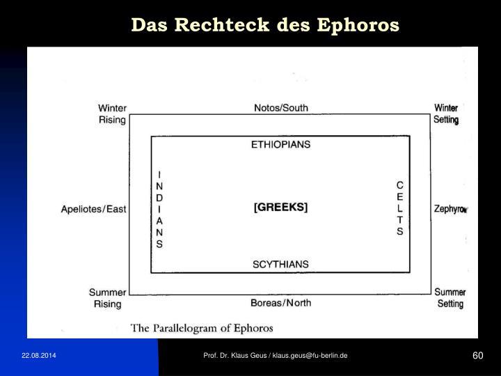 Das Rechteck des Ephoros
