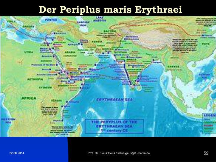 Der Periplus maris Erythraei