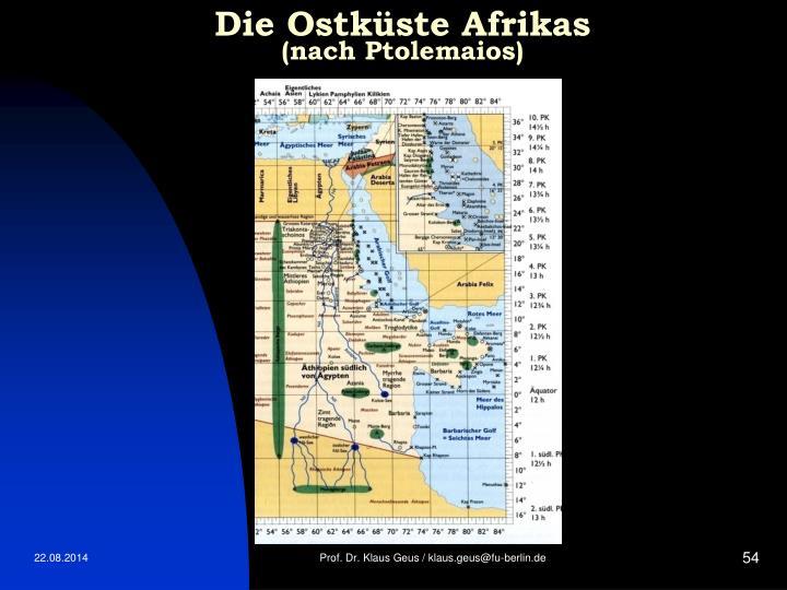 Die Ostküste Afrikas