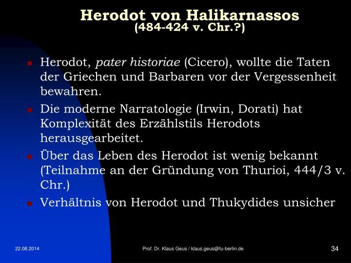 Herodot von Halikarnassos