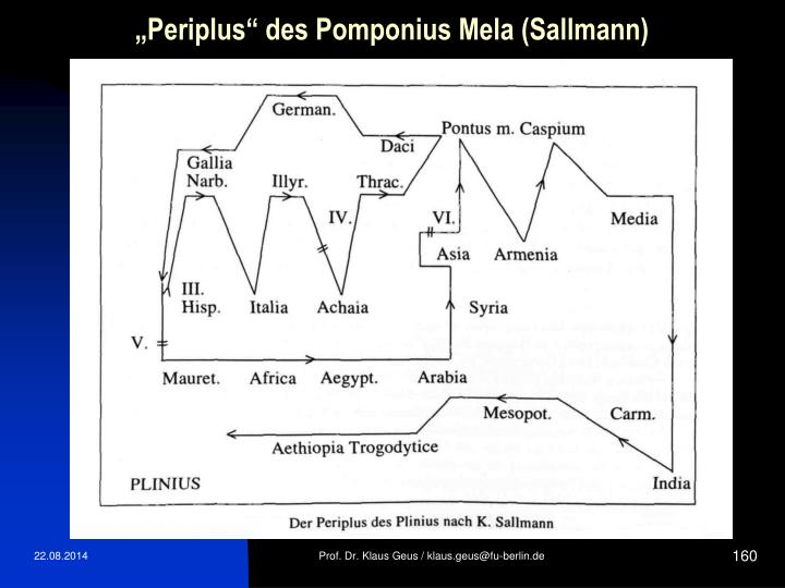 """Periplus"" des Pomponius Mela (Sallmann)"