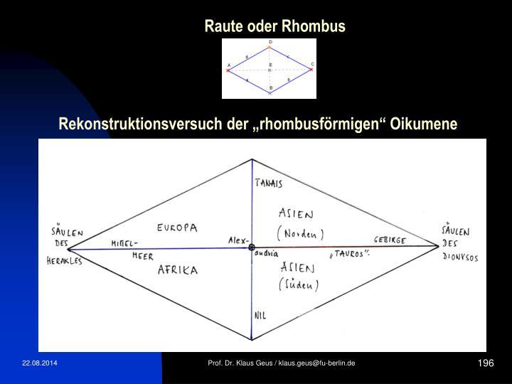 Raute oder Rhombus