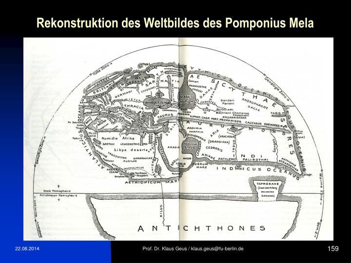 Rekonstruktion des Weltbildes des Pomponius Mela