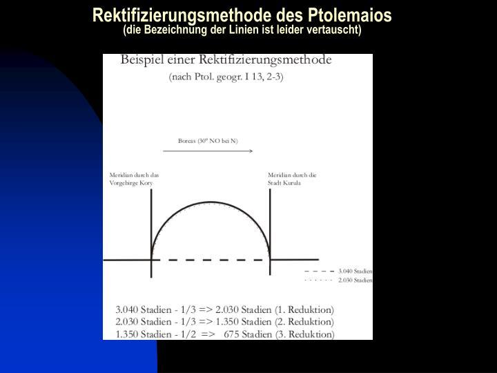 Rektifizierungsmethode des Ptolemaios