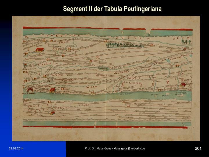 Segment II der Tabula Peutingeriana