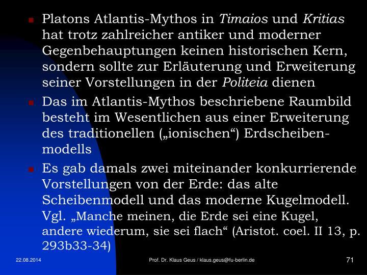 Platons Atlantis-Mythos in