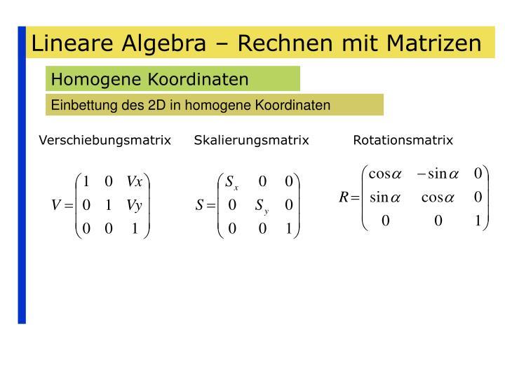 ppt lineare algebra rechnen mit matrizen powerpoint. Black Bedroom Furniture Sets. Home Design Ideas